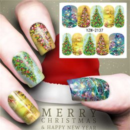 Christmas Gift Nails Australia - 5 sheets Nail Stickers Set Christmas Winter Snowflake Women Red White Slider Gift Manicure Design Foil For Nail Art Decal