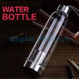 Eu Glass Australia - 420ML Sport Outdoor Portable Real Borosilicate Glass Water Tea Bottle Mug Carafe Nylon Sleeve with Tea Infuser JF-796