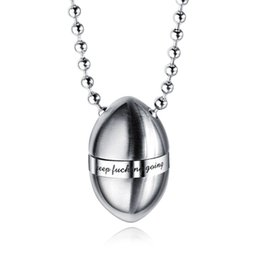 bullet chains Australia - Tide Men Charm Stainless Steel Necklace Fashion Bullet Perfume Bottle Pendant Beads Chain Punk Hip Hop Jewelry Necklaces For Men Gift