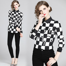 Wholesale women's blouses for sale - Group buy Quality Elegant Tops Women s Designer Shirts Plus Size Women s Lantern Sleeve Fashion Ladies Printed Blouses Slim Casual Office Runway Shirt