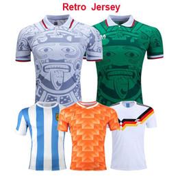 d5688c34685 Retro 1998 Mexico Classic Vintage Soccer jerseys 1978 Argentina Football  Shirts 1988 Netherlands Retro MARADONA