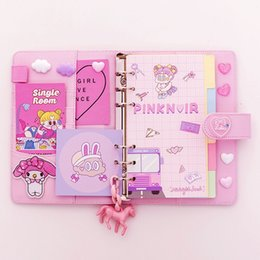 $enCountryForm.capitalKeyWord Australia - Magnet spiral notebook set with elastic band pen holder hot sale candy color hard cover notebook notepad