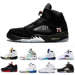 prince sports Canada - New 5 V 5s PSG Black Basketball Shoes Fresh Prince Space Jam Wings Laney White Cement Oreo men Outdoor Sport Sneaker 41-47