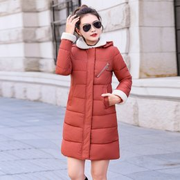 Womens Long Hooded Parka Australia - 2019 New Parkas Female Women Winter Coat Thickening Cotton Winter Jacket Womens Outwear Parkas For Women Winter Long Hooded