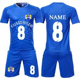 2019 New profession Custom Football Jerseys 2018 Futbol Training Uniforms  Maillot De Foot Jersey shorts 2019 Men Blank Soccer Jerseys Set ed39197d8