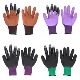 1 paio guanti da giardino 4 mano sinistra artiglio punta delle dita polpastrelli in plastica ABS rapido impianto di scavo per scavare serra della famiglia