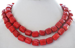 "$enCountryForm.capitalKeyWord Australia - Jewelryr Jade Necklace Lovely Fine natural 32"" 13x15mm massive red coral bead NECKLACE 32inch Nobility Woman's jewelry Free Shipping"