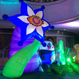 $enCountryForm.capitalKeyWord Australia - 3.4m Inflated Eye flower Chubby Plant Garden Decoration Inflatable Hexagon Flower with Eye
