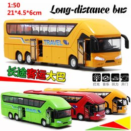 small child toy car NZ - Bus Toy Double Layer Bus Model Public Car Alloy Bus Toy Car Children Small Car