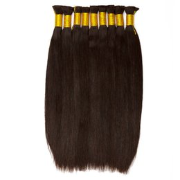 Dyeing Hair Black Australia - Malaysia, India, Mongolia real hair, straight wave hair 8-28 inches natural black, can be dyed raw human hair extensions from a piece