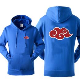 adaf05802 Japan Anime Naruto Akatsuki Red Cloud Print Hoody For Men 2019 Autumn  Winter Sweatshirt Fashion Casual Tracksuits Hoodies Hot