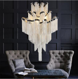 $enCountryForm.capitalKeyWord Australia - French Empire LED Aluminum Chain Chandelier Lighting Nordic Modern Lustre Hanging Lamp Light Fixtures Suspension Luminaria