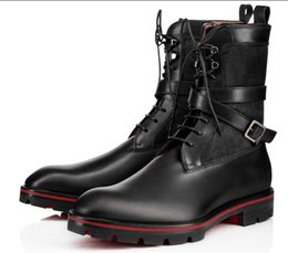54585aa11f4 The New Flats Men s Red Bottom Casual shoes Retro Boots Cool Man Booties  Party Dress Walking With Super Quality Ankle Boot t4