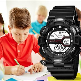 kids digital sports watch Australia - SYNOKE New Fashion Digital Watch Boys Girls Wristwatches Sports Fitness Children's Watch Luminous Waterproof Clock for Kids