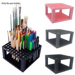 Markery wielofunkcyjne Pędzel 96 Hole Desk Stand Ołówek Uchwyt Ołówek Odpinany Organizator Materiały Plastikowe Artysta
