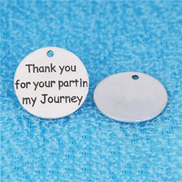 $enCountryForm.capitalKeyWord NZ - 20pcs 25MM Thank you for your part in my journey charms vintage word pendants for bracelet earring diy jewelry making item alloy