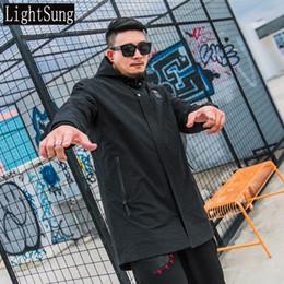 $enCountryForm.capitalKeyWord NZ - 2018 new arrive men winter long plus size plus size hoodies casual trench black fashion loose male
