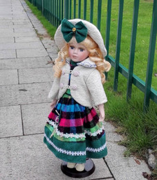 russian blocks NZ - Height 41cm Welfare Russian Ceramic simulation doll European handicraft furnishings home bedroom decoration Girl Child Red