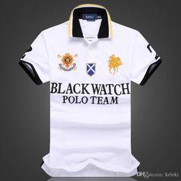 $enCountryForm.capitalKeyWord Australia - discounted polo shirt Wholesale men tshirt BLACK WATCH POLO TEAM Custom Fit S M L XL XXL 2XL