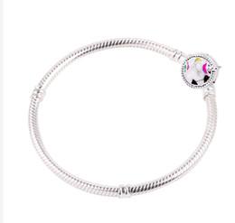 $enCountryForm.capitalKeyWord Australia - dodocharms 925 Silver Bangle Love Snake Chain Snap Clasp Jewelry Fit European horse Charm Bracelet For Women DIY Jewelry Making