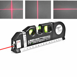 Çok Amaçlı Lazer Seviye 8FT Hizalayıcı Standart Horizon Dikey Çapraz ölçün ve Metrik Cetvel Level Laser Ölçü Araçları ölçün