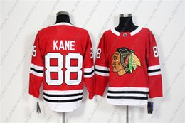 f386de5a3 Custom Chicago Blackhawks 88 Patrick Kane Red Home Hockey Jersey  Personality stitching custom any name number XS-5XL