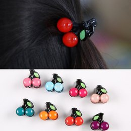 Girl hair accessories cherry online shopping - Mini Small Acrylic Fruit Hairclip Women Hair Bangs Catch Claw Headdress Girls Hairclaw Cherry Clip Hairpins Hair Accessories