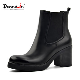 $enCountryForm.capitalKeyWord Australia - Donna-in women genuine leather snow boots natural wool fur insole winter booties platform shoes high heels ankle boots