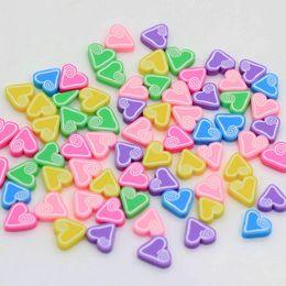 Kids Craft Making UK - Cheap 9*10mm Rainbow Pastel Double Heart Shaped Flat Back Cabochons Scrapbooking Kids' Hair Crafts DIY Jewelry Making DIY