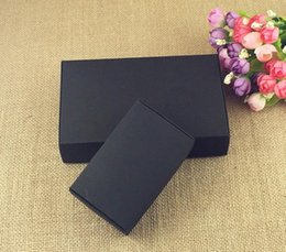 Carton paCk online shopping - 24pcs Black Carton Kraft Paper Tab Lock Box White Wedding Gift Packing Box Wedding Candy Box Party Favors Soap Boxes