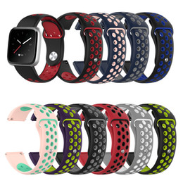 $enCountryForm.capitalKeyWord Canada - DHL New Arrival Replacement Soft Silicone Wrist Strap Smart Watch Band for Fitbit Versa Lite Versa Universal Watch Band