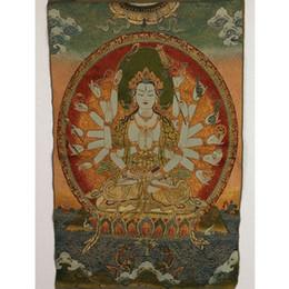 $enCountryForm.capitalKeyWord Australia - Tibet Collectable Silk Hand Painted Thousand hands Kwan-yin Thangka RK052+a