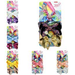 $enCountryForm.capitalKeyWord NZ - Cute jojo bows Girl Hair accessories Hair Clips Shinning Hair Bows 3inch Birthday gift 3pcs card for Boutique store FJ455
