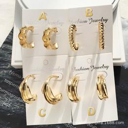 $enCountryForm.capitalKeyWord Australia - 2019 cross-border new European and American style simple and irregular C-shaped ear ring INS net red niche design sense earrings