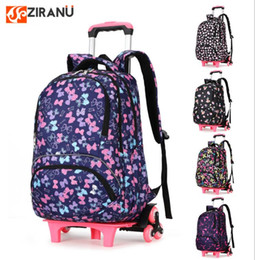 Girls school baGs trolley online shopping - School Rolling backpack for girls Wheeled Backpack for school Children trolley Bag kids travel trolley on wheels