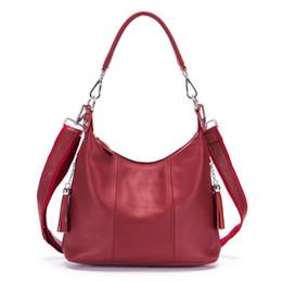 $enCountryForm.capitalKeyWord NZ - Brand Genuine Leather Handbag Casual Handle Pack Women's Cross Body Shoulder Bag Ladies Cowhide Messenger Bags Female Totes Y19061903