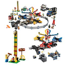 Park Block Australia - 1858PCS Legoing Creator Street Series Super Compatible Amusement Park Giant Stride Carnival Leoings Building Blocks Bricks Toys
