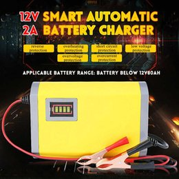 automatic motorcycle 2019 - Intelligent Car 12V 2A Motorcycle Motorbike Automatic Smart Battery Charger for Auto Motorcycle Lead-Acid Batteries Char