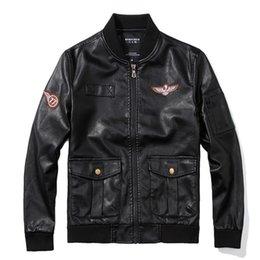Business Casual Clothes Men Australia - Men Autumn Winter Leather Jacket Motorcycle Leather Jackets Male Business Casual Coats Brand New Clothing Veste Military Jacket
