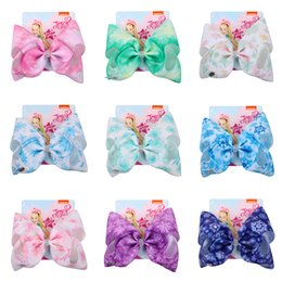 snowflake clip 2019 - 16 Designs Snowflake Styles Jojo Bows With Clip hair accessories for girls JOJO Siwa Hair Bows 8 inch Large Hair Bow DHL