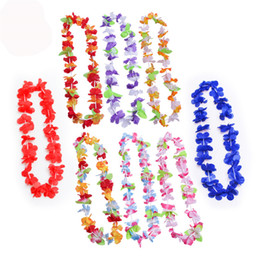 лей оптовых-Партии поставляет Silk Hawaiian Flower Lei Garland Hawaii Wrath Cheerleading Products Hawaii Ожерелье