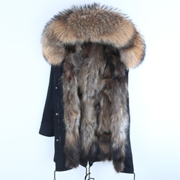 $enCountryForm.capitalKeyWord Australia - Real Fur Parka Men Winter Jacket Real Raccoon Fur Hooded Coats Nature Raccoon Dog Lining Jacket Man Real Fur Coat T190908