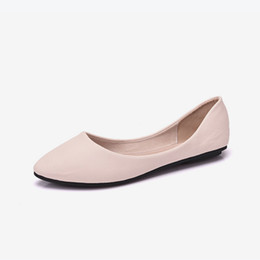 China Women Pointed Toe Handmade Ballet Flat Autumn Loafers Female Slip On Flexible Ladies Casual Comfort Shoes Comfortable Footwear supplier lady comfort slip shoes suppliers