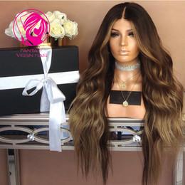 pretty brazilian human hair 2018 - Fantasy Ombre Layered Color Lace Front Human Hiar Wigs Pretty Wavy 13x4 Pre Plucked Brazilian Remy Hair Lace Wigs for Bl