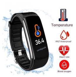 thermometer smart watch Australia - New 2020 Trending Thermometer Touch Watch Smartwatches Waterproof C6T C6T Smartwatch Fitness Tracker Sport Bluetooth Watch Smart Bracelet