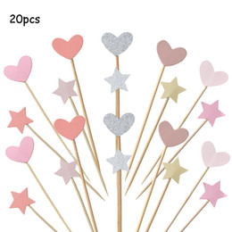$enCountryForm.capitalKeyWord Australia - Set Of Handmade Lovely Colourful Heart Shape Cupcake Toppers Cake Party Supplies Birthday Wedding Party Decoration
