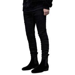 $enCountryForm.capitalKeyWord UK - 2019 men hip hop jeans fashion skinny locomotive Striped jeans Hole Designer bike Jogger mens trousers Brand Swag Denim Pants