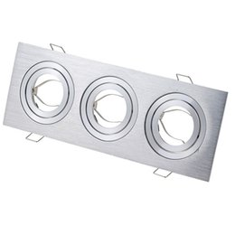 $enCountryForm.capitalKeyWord NZ - Three heads grille light fixture square ceiling downlight cups for GU10 MR16 GU5.3 spot lamps Halogen MR11 holder