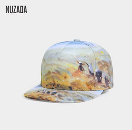 a804b232c6c NUZADA Original Style Men Women Couple Baseball Cap Street Punk Caps HD 3D  Printing Design Snapback Bone Cotton Hats