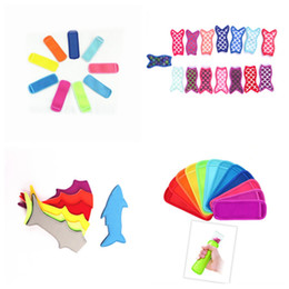 Wholesale Hot style mermaid shark Popsicle anti freeze bag colorful ice cream insulated bag diving materials Ice Cream Tools T2I5016